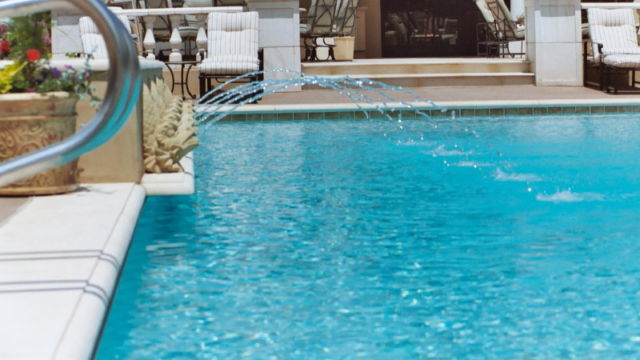 Water Feature on Pool