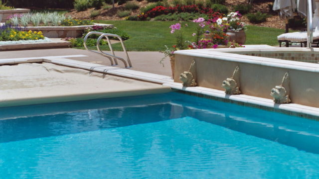 Custom Pool with Automatic Cover